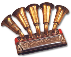A victorian Harmonica Trumpet Hybrid